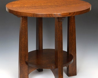American Arts And Crafts Tabouret Table