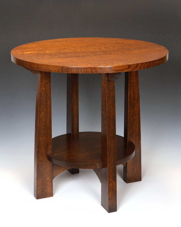 american arts and crafts tabouret table. Black Bedroom Furniture Sets. Home Design Ideas