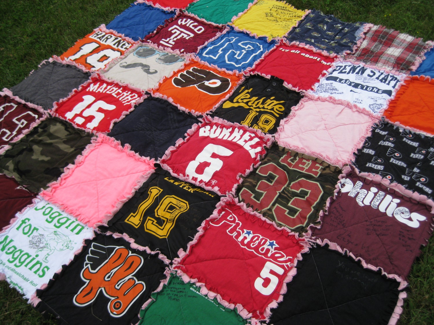 Deposit For Custom Made T Shirt Rag Quilt 36 Squares