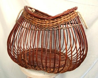 """Wicker Basket """"Fig"""" with rope handle"""