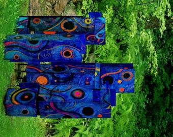Quartet, a Four-Piece, Stained/ Painted Polycarbonate Outdoor Sculpture