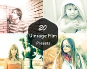 20 Vintage Film Presets Photography Editing Retouching