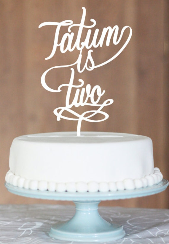 Birthday Cake Name Cake Topper Birthday Number Cake Gold
