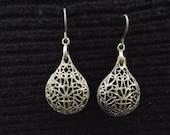 70s vintage, sterling silver earrings