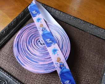 3 Yards of 1 Inch Cinderella Grosgrain Ribbon