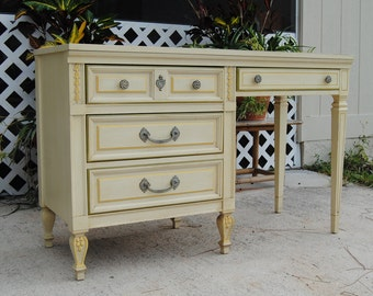 Vintage Mid Century Dixie French Provincial Style Desk
