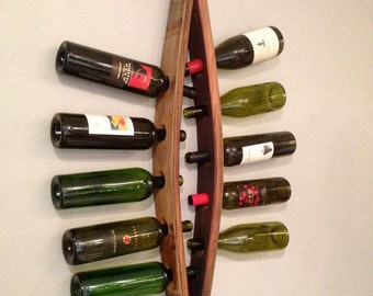 Barrel Stave 10 Bottle Wall Mount Wine Rack – Gina