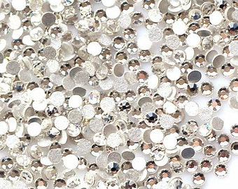3000 pcs 3D Flatback Acrylic Rhinestones Stickers for Craft Nail Art Design DIY Glitter Crystal Beads Gems (2mm)