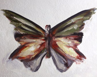 Original 11 x 14 inch oil painting of a butterfly by Meredith O'Neal