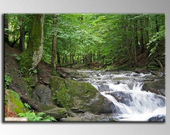 Canvas Art Abstract Giclee Canvas Print - In Forest - Ready to Hang. 20x30 to 30x47