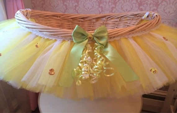 Rubber Duckie Tutu Basket, Tutu Gift Basket, Tutu Baby Shower Basket, Wedding Basket, tutu Easter Basket, Newborn Photo Prop Basket