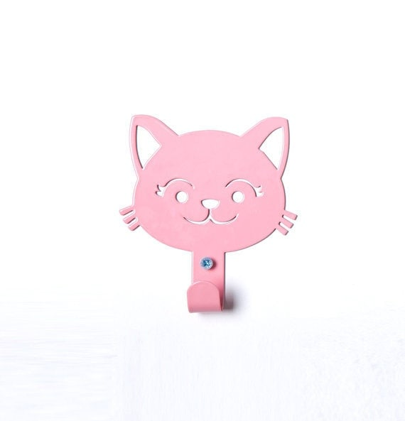 Items similar to cute cat children 39 s coat rack meow Cute coat hooks