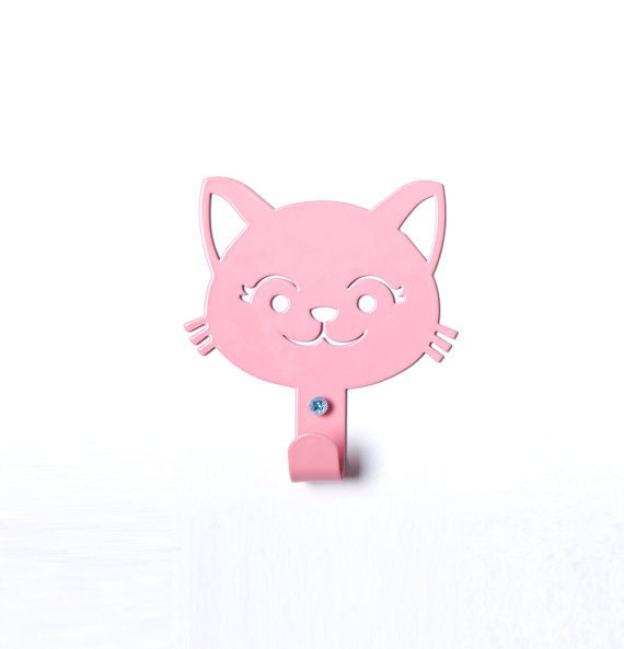Items Similar To Cute Cat Children 39 S Coat Rack Meow: cute coat hooks