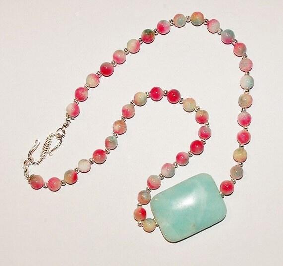 gemstone necklace pink multicolor kunzite by scladydijewelry