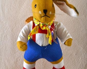 Vintage Large Felt Kersa Rabbit Boy