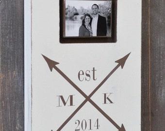Bridal Shower Gift, Photo Frame, Personalized Engagement Gift, Wedding Gift, Engagement Present, Custom Wedding Sign