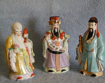 Asian Wise Men Figurines - Set of 3