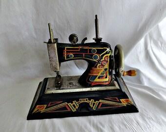 Casige Toy Sewing Machine 1015 Deco British Zone Germany 1940's