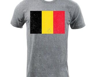 Flag of the Belgium - Athletic Grey
