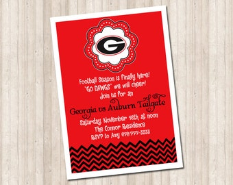 Custom Georgia Bulldogs Invitation