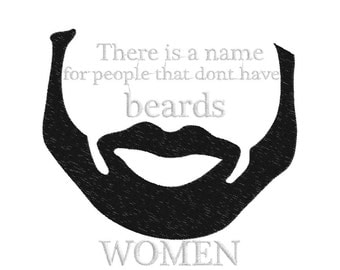 Bearded Peeps Embroidery Design, bearded life, messy beard don't care, manly men