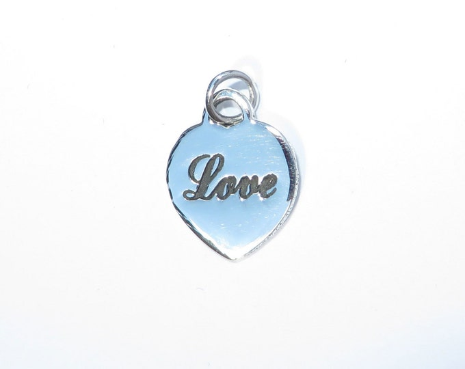 925 Genuine Silver Love Heart Charm - 92.5% Sterling Necklace Weddings Christening Bride Bridesmaid 21st 16 Birthday Gift Graduation Friend