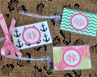 Preppy Bag Luggage Stroller Tags Personalized