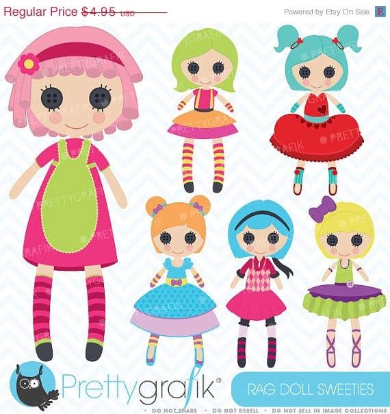 Girl Toys Clip Art : Off sale rag doll toy girl clipart by prettygrafikdesign