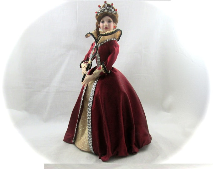 Dollhouse Doll QUEEN of HEARTS Doll Pattern and Instructions PDF Miniature Dollhouse 1:12 Scale Instant Download diy Red Once Upon Time