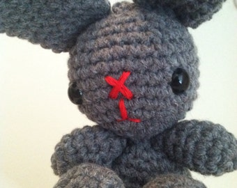 Grey Crochet Bunny