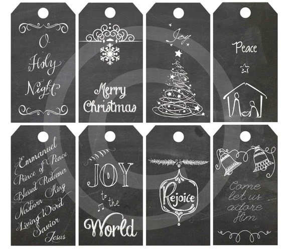 Diy printable christmas religious gift tags chalkboard diy printable christmas religious gift tags chalkboard christmas gift tags instant download original printable nativity collage negle Image collections