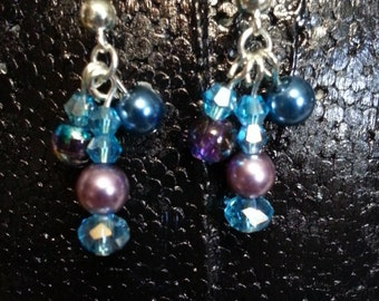 Teal and Purple earrings