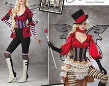Simplicity 1301 (S0791) Steampunk Circus Costume Pattern Size 6, 8, 10, and 12