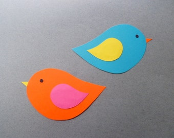 Bird Paper Tags / Bird Cut Outs for Crafts and Party Decorations