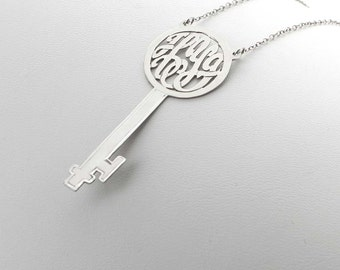 Monogram Key Necklace