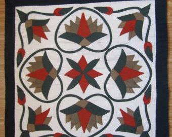 Egyptian , handmade,  Pillow applique art