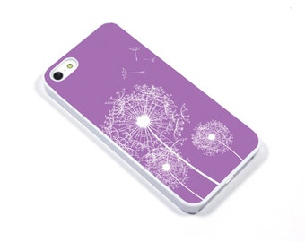 iPhone 5/5s iPhone 5c iPhone 6/6plus Samsung Galaxy S3 S4 S5 iPod touch 4th/5th Gen - Dandelion Seed lavender purple - p37