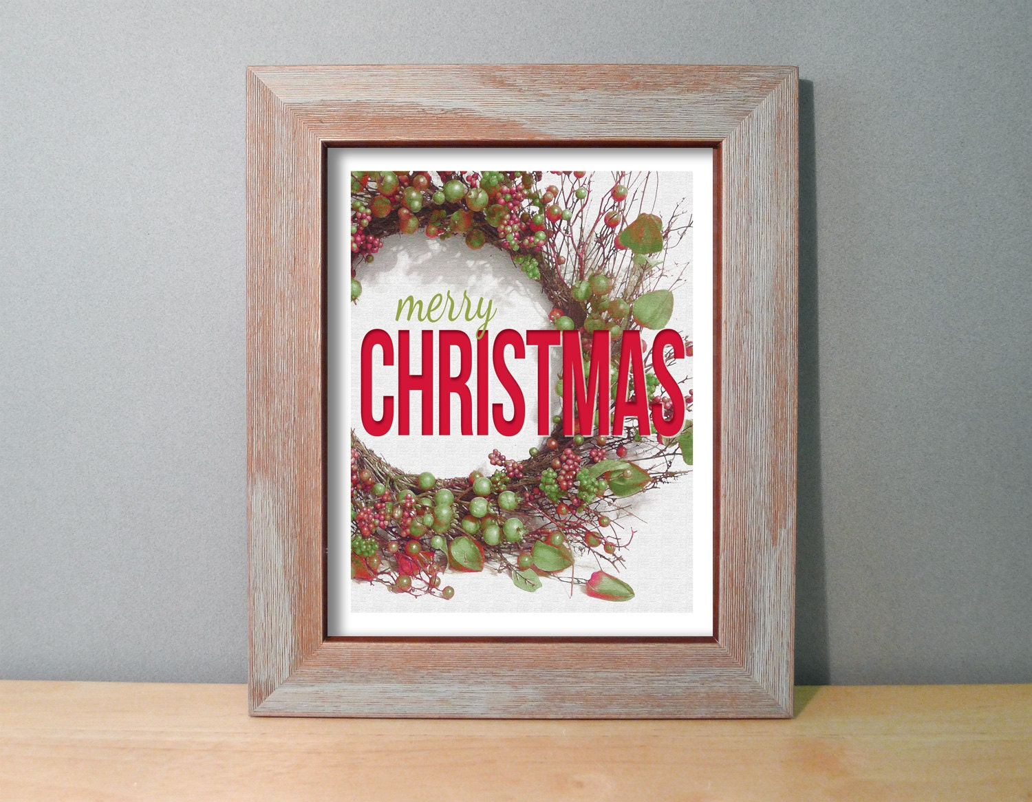 Wall Decor Under 20 : Christmas gifts under merry sign