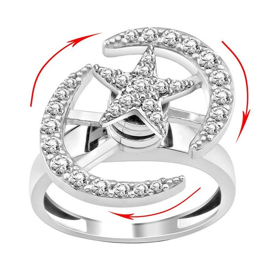 Items Similar To Rings Of Year White Color Stone Motion