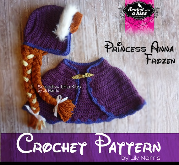 Free Crochet Pattern Elsa Cape : CROCHET PATTERN Princess Anna Anna hat crochet by ...