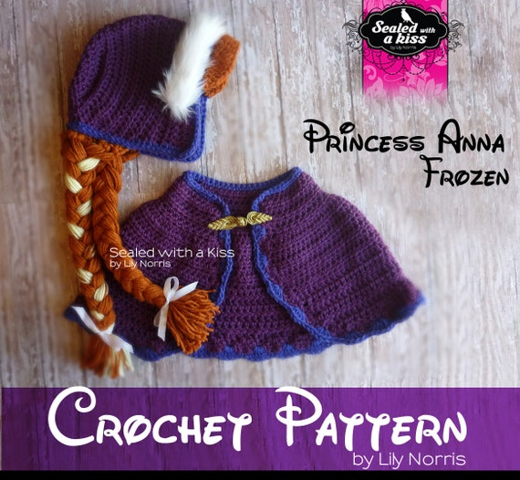 CROCHET PATTERN Princess Anna Anna hat crochet by ...