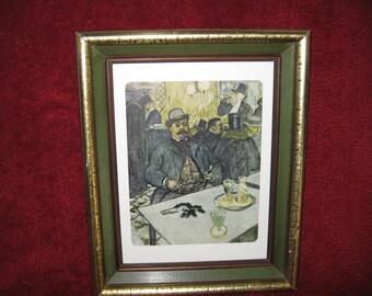 """FRAMED VINTAGE PRINT- M. Boileau At The Cafe 12"""" x 14 3/4"""""""