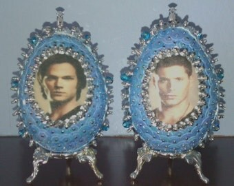 Sam and Dean Winchester Supernatural Decorative Egg Ornaments