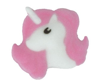 Lovely Little Unicorn Sugar Dec-ons add a magical touch to any baked treat!