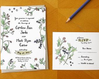 Berry Perfection: Wedding Invitation Suite  / Deposit