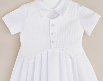 Stefan Traditional Christening Gown for Boys