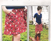 Pattern - Alder Skirt for Girls Paper Sewing Pattern by Imagine Gnats
