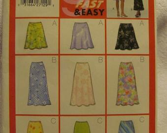 Butterick 5431 UNCUT Pattern / Ladies Skirt / Sizes 6, 8 & 10
