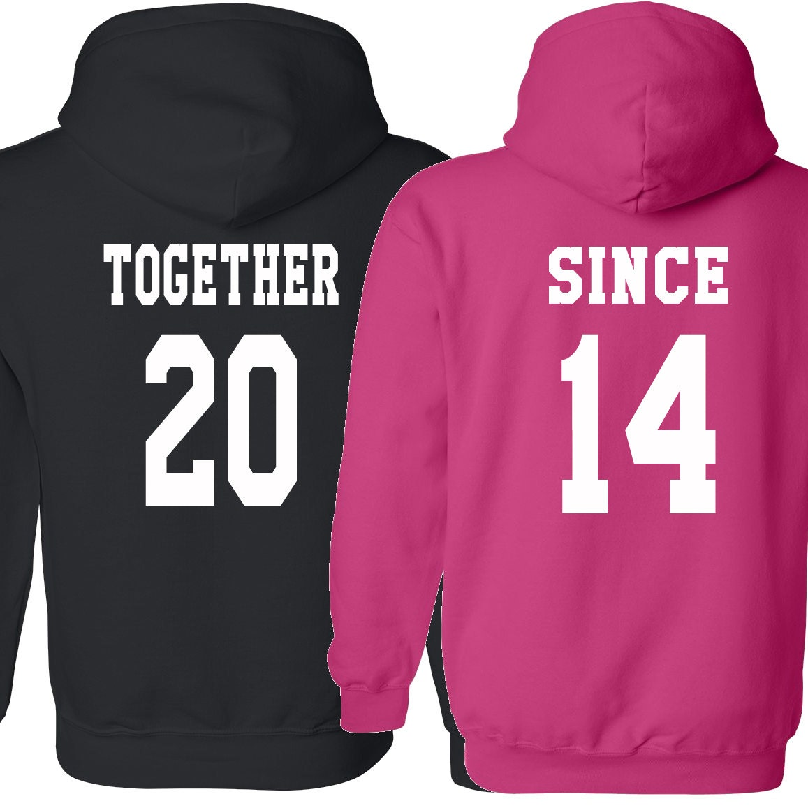 COUPLE hoodie Together Since Love shirt Valentine's Day by Cefisso Cute Couple Sweatshirts Tumblr