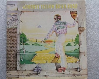 """Elton John - """"Goodbye Yellow Brick Road"""" vinyl records 2 LPs, ft. """"Candle In the Wind""""  """"Bennie and the Jets"""""""